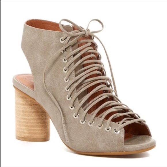 2e49a7e5052b Jeffrey Campbell Lace Up Peep Toe Covet Gray 7